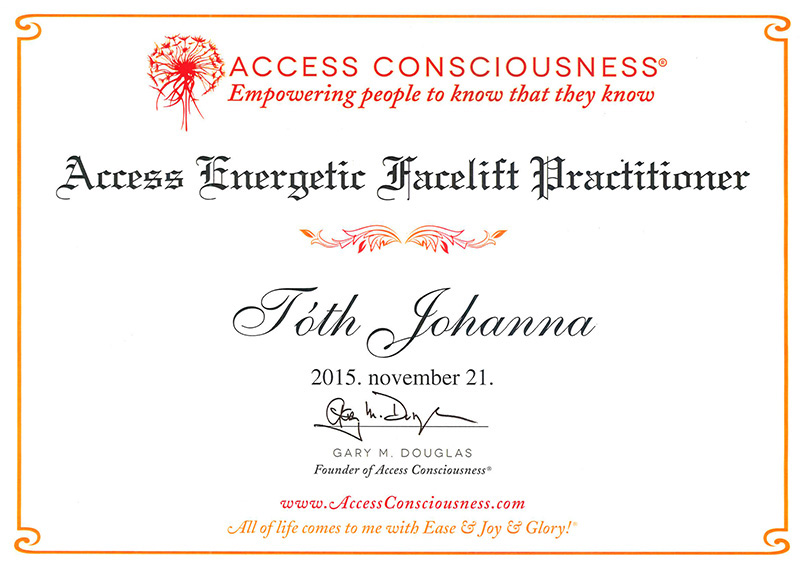 Tóth Johanna - Access Energetic Facelift Practitioner